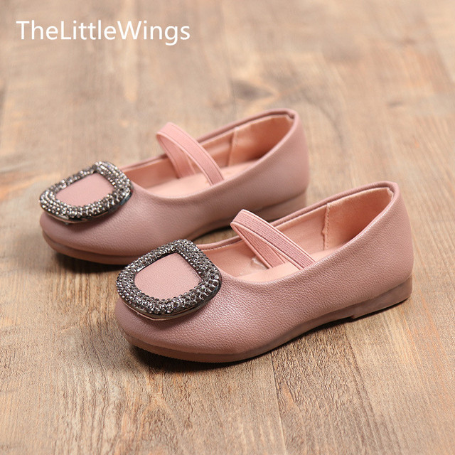 Autumn Fashion 2017 New Kids Shoes Super Perfect Rhinestone Cute Flat Girls Princess Wedding