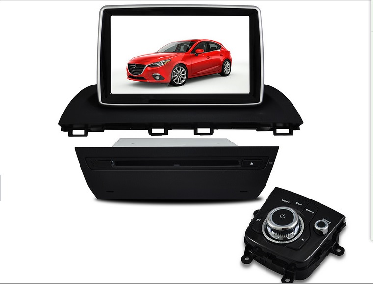 Mazda3 Axela radio dvd GPS Bluetooth steering control free map font b Car b font radio