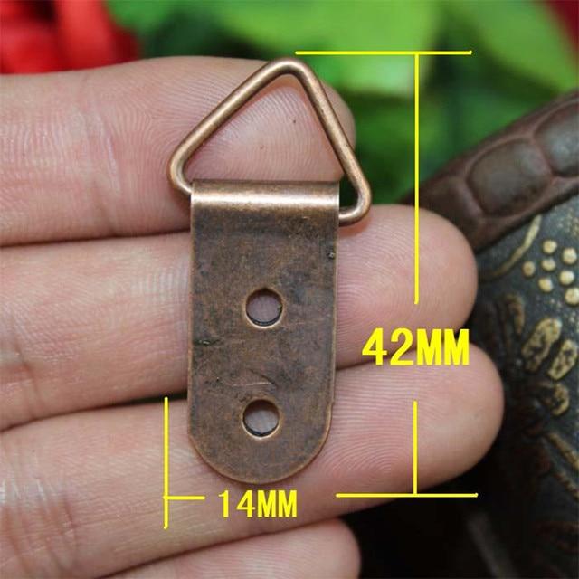 Bulk Driehoek D Ring 2 Gaten Opknoping Foto Olieverf Spiegel Frame