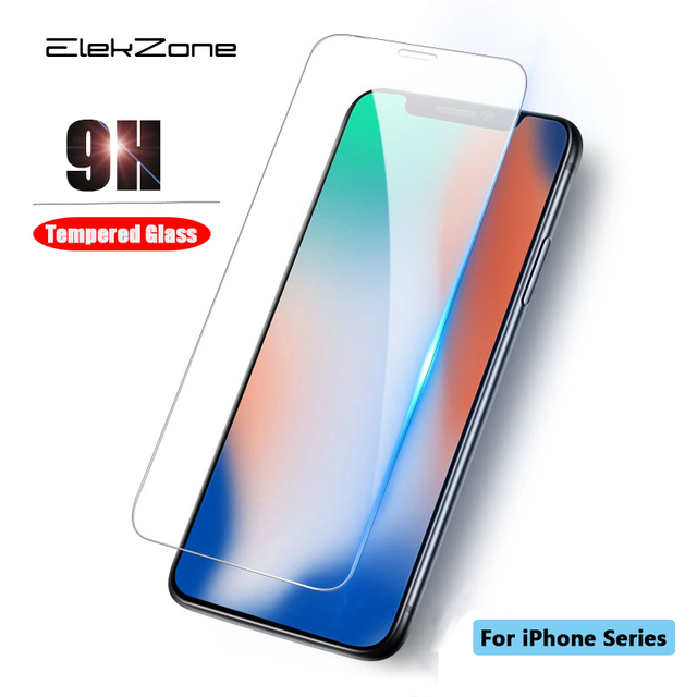 Tempered Glass For iPhone X XS MAX XR Screen Protective Film For iPhone 6 6s 7 8 Plus Glass Protector For iPhone XS 6 6s 7 8 X