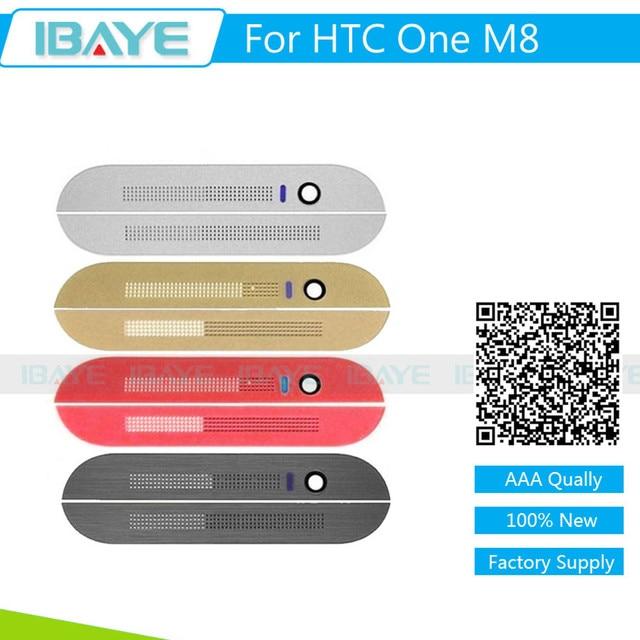 Для HTC One M8 Фронтальная Камера Топ Нижняя Крышка Крышка для HTC One M8 Передняя Грань Корпуса Динамик Крышка замена