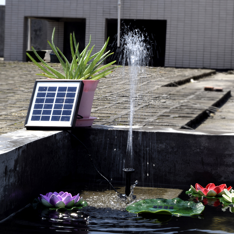 Solar Panel Fountain: 1pc High Quality Solar Fountain Water Garden Fountains For