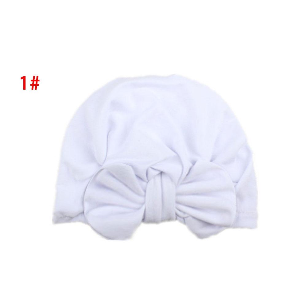 Бант для новорожденных шапочка для новорожденного, для малыша реквизит для фотографии Индия девочки младенческие креативные Детские аксессуары реквизит Удобная вязаная шляпа с бантом - Цвет: white