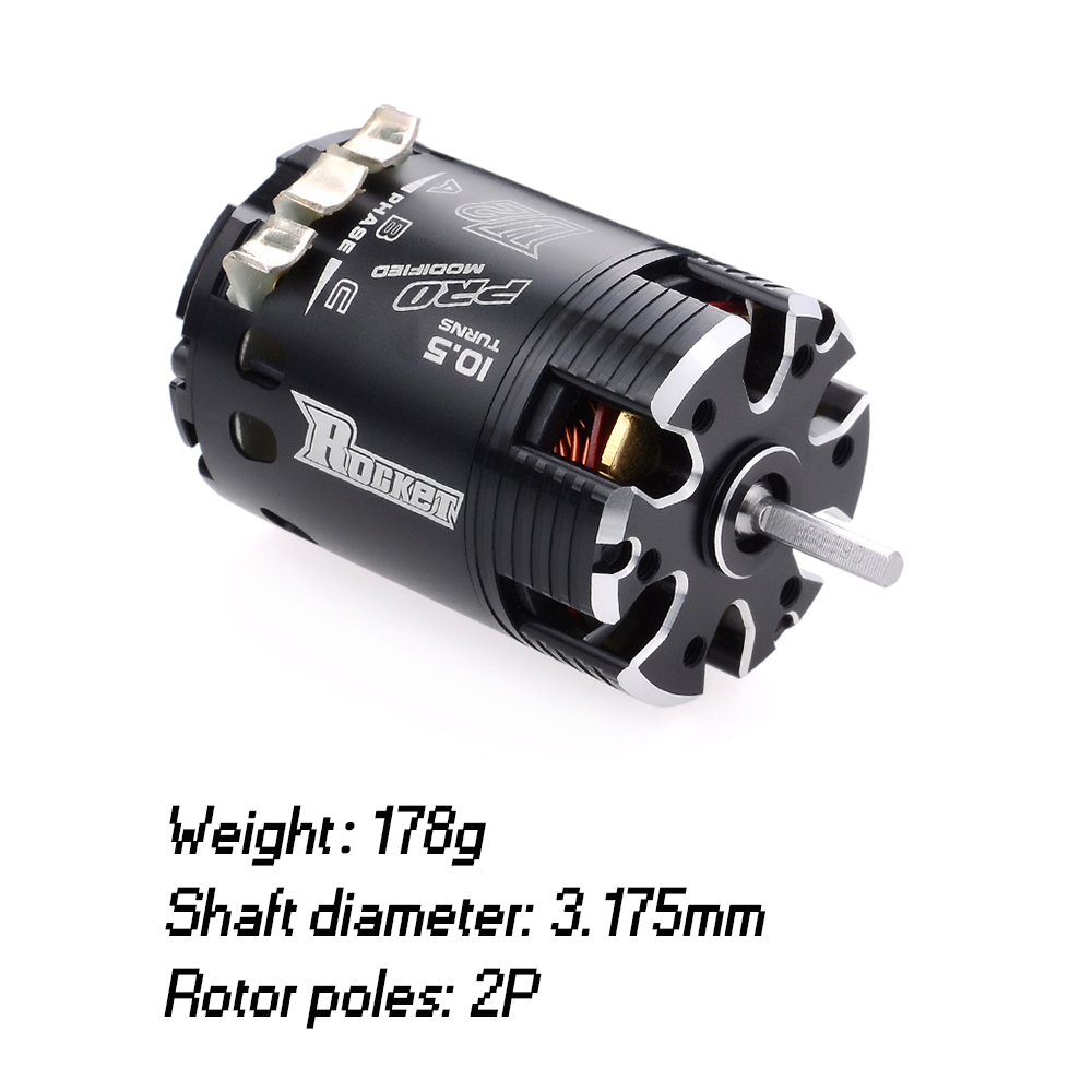 Image 3 - SURPASSHOBBY Rocket 540 V2 10.5T 13.5T 17.5T 21.5T Sensored Brushless Motor for Spec Stock Competition 1/10 1/12 F1 RC Car-in Parts & Accessories from Toys & Hobbies