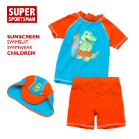 Kids Swimwear One Piece Boys Swimsuits Cartoon Cute Swimming Rashguard UPF50+ Beachwear Children Water Sports Baby Bathing Suits