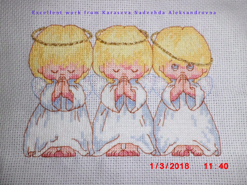 cross stitch kit Almost Perfect 3 little angels
