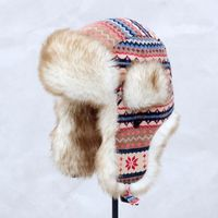 Super warm! Autumn and winter women's National trend lei feng cap skiing motorcycle thermal flying ear protect hat ear