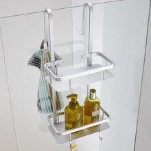 Современное помещение Алюминий серебро угловая полка-корзинка для ванной комнаты 2-х слойный матовый косметический держатель Аксессуары для ванной комнаты G66
