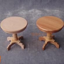 De Café redonda mesita Mesa De muebles de casa de muñecas de madera de color rojo para niños Juguetes y Pasatiempos