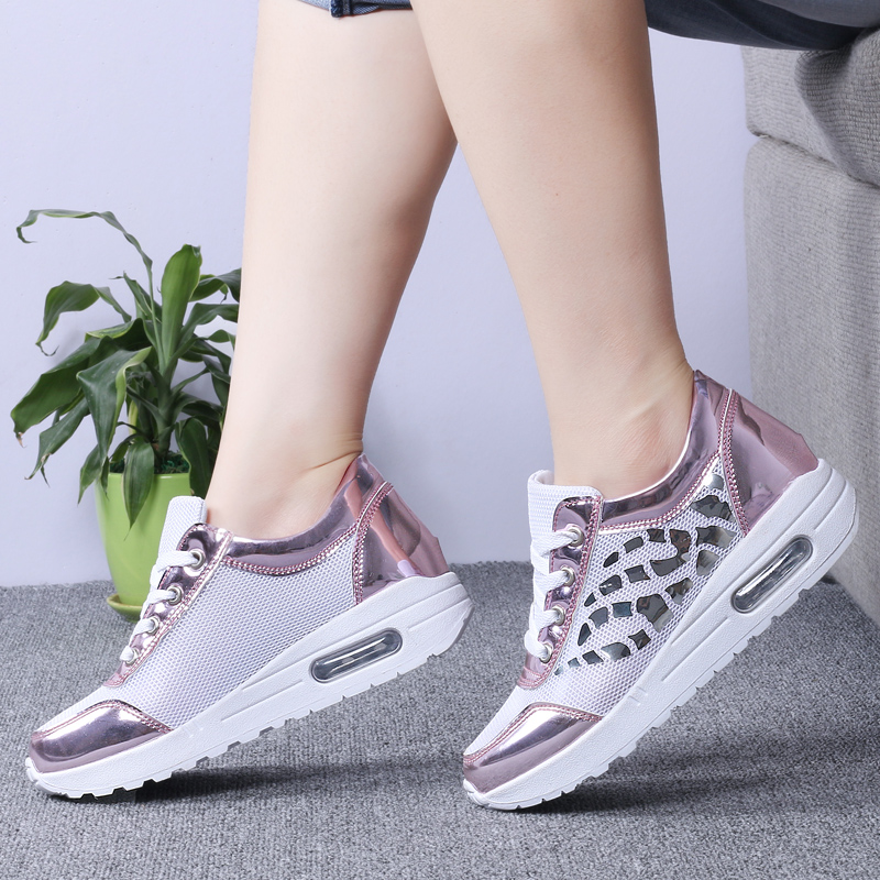 Trainers Women Casual Shoes Summer Style Outdoor Breathable Low Top Shoes Woman Flat Heels Sport Ladies Shoes Size 35-40 ZD71 (14)