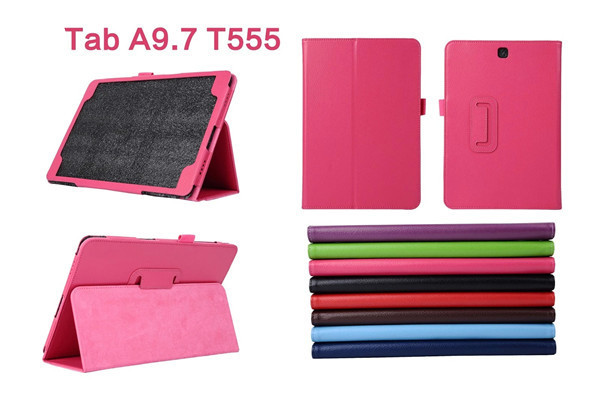 For Samsung Galaxy Tab A 9.7 inch Case Flip Stand PU Leather Cover for Samsung Galaxy Tab A 9.7'' SM T550 P550 P555 T555C Tablet crocodile pattern luxury pu leather case for samsung galaxy tab 4 8 0 t330 flip stand cover for samsung tab 4 8 0 t330 sm t330