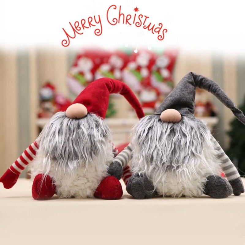 Hecho a mano sueco Tomte Navidad decoración Santa Claus Escandinavo de peluche de Navidad Gnome de-Navidad regalo de cumpleaños