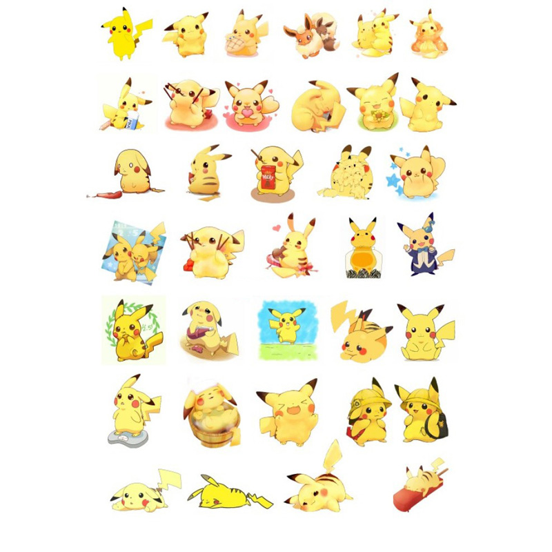 2 PCS Kawaii Anime Pokemon Pikachu Totoro DIY Decoration Scrapbooking Stationery Stickers Calendar Album Agenda Small Sticker Vv