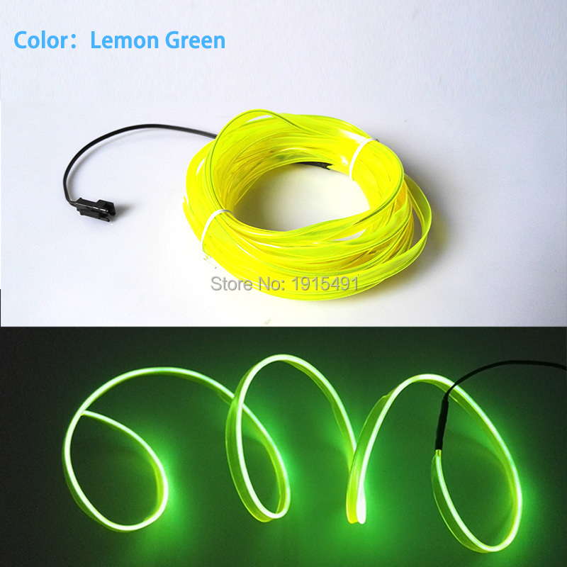 Car Styling Decor 2 3mm Skirt Flaring Lime Green Led Strip Rope Tube 10M  Sound Sensitive Cold Light EL Wire for Motor Show DecorLed Rope Lighting Green Promotion Shop for Promotional Led Rope  . Green Led Rope Lighting. Home Design Ideas