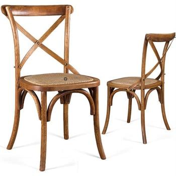 100% Silla de comedor de madera, silla de roble antiguo, parte ...