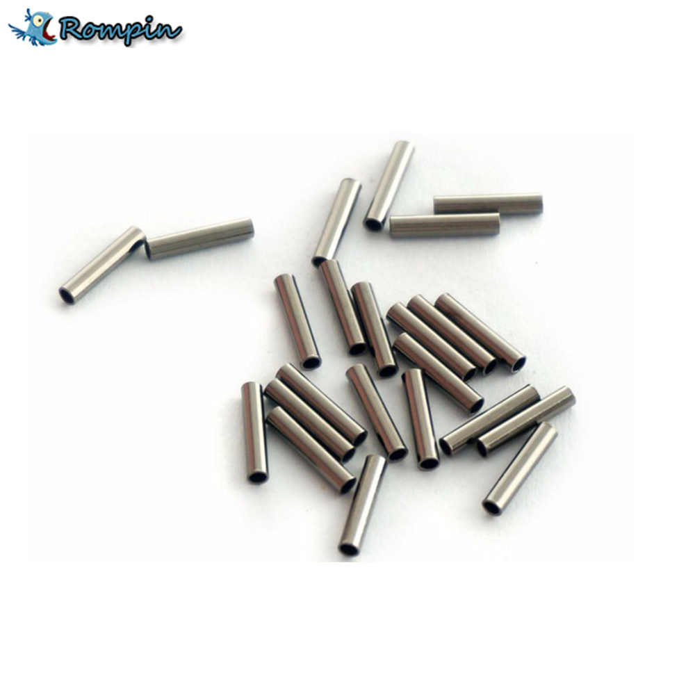 Rompin 100pcs/lot Fishing stainless steel fishing line sleeve copper tube fishing accessories fishing line tube 1.0mm~2.8mm outkit 10pcs lot copper lead sinker weights 10g 7g 5g 3 5g 1 8g sharped bullet copper fishing accessories fishing tackle