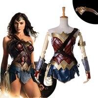 2017 neue Film Wonder Woman Cosplay Kostüme Adult Maß Prinzessin Diana Kleid Volle Sets Party Halloween Kostüme Für Frauen