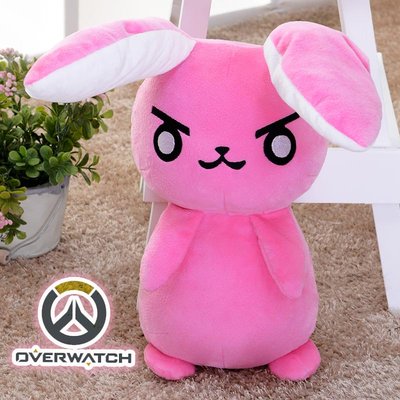 50CM Game Overwatches Pink Dva Rabbit Plush Toys The Last Bastion OW Ganymede Solf Plush Pillow Dolls Toys for Children Gifts 1