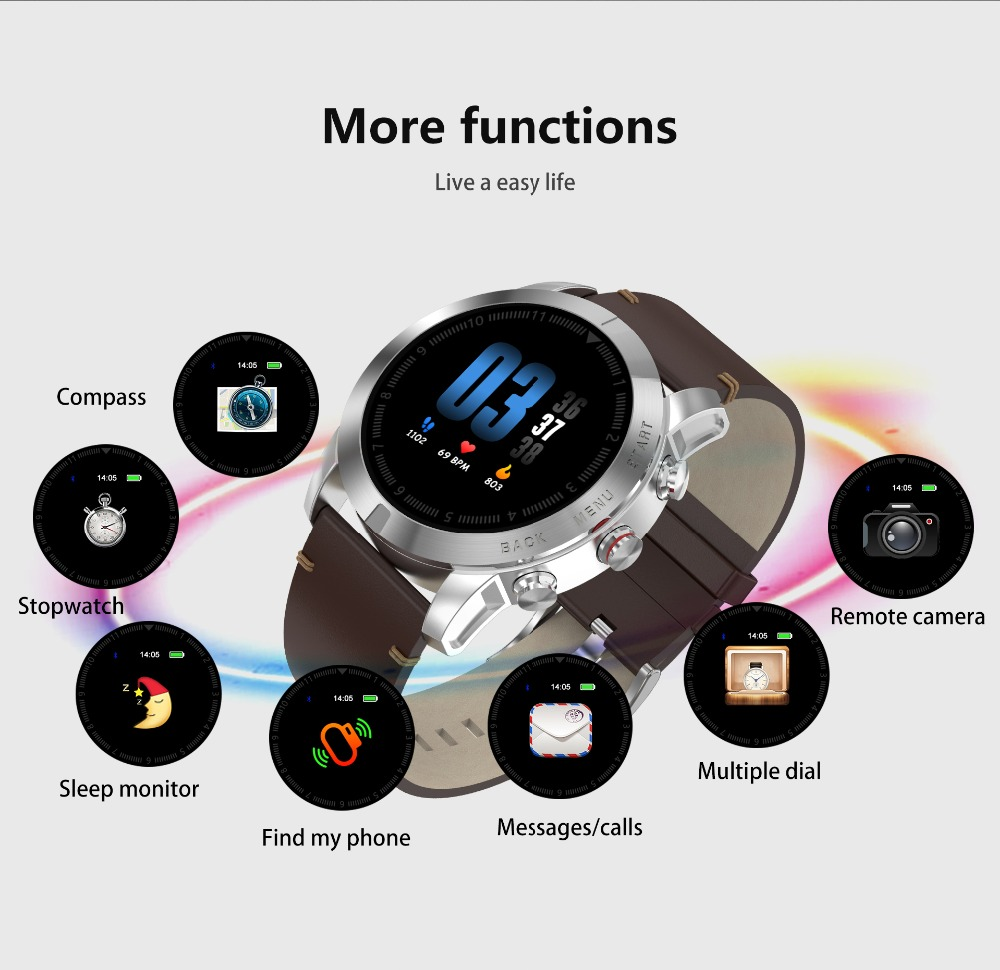 -12 Montre intelligente IP68 étanche Bluetooth 4.2