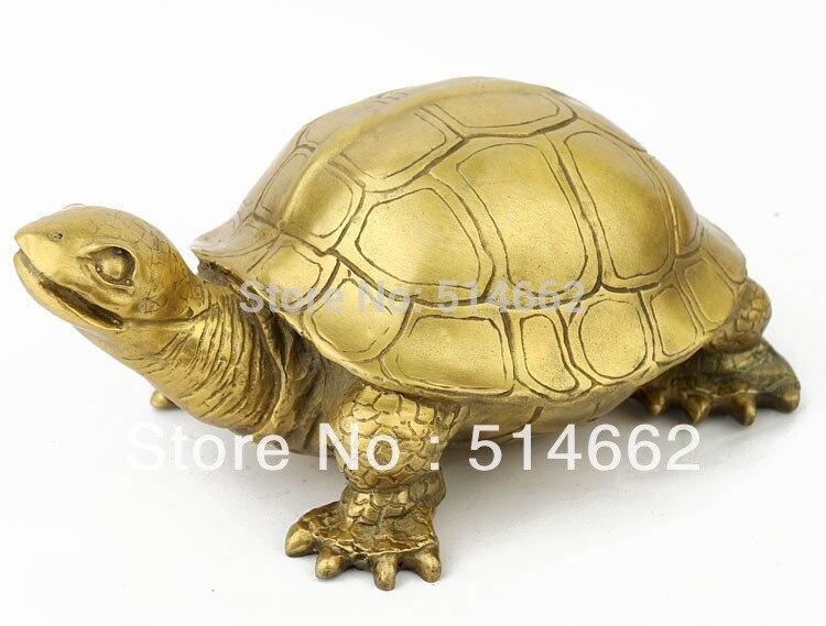 Statues de tortue en laiton FengShui M4053