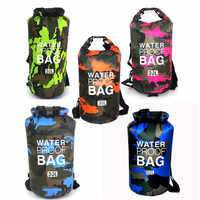6 Size Outdoor Camouflage Boating Kayaking PVC Waterproof Dry Bag Lightweight Diving floating Camping Hiking Swimming travel Bag