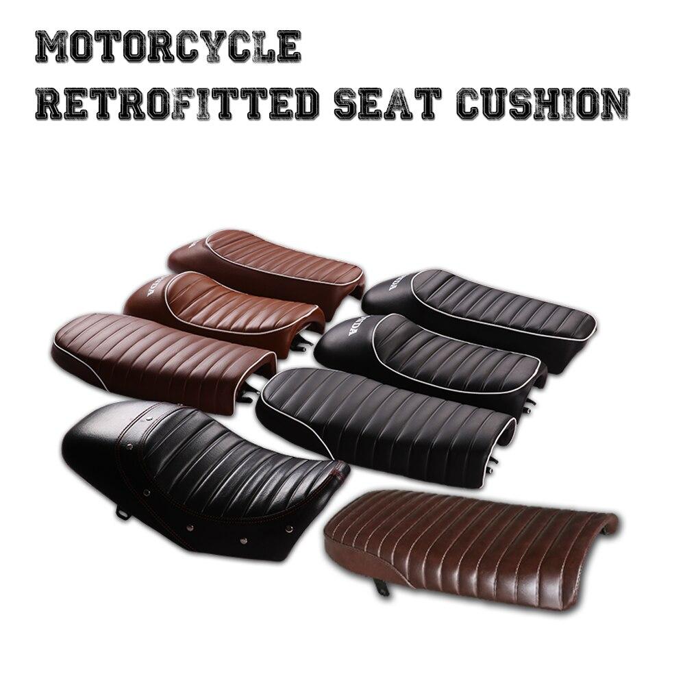 Modification de motos, coussin de café rétro, siège plat de bosse, siège général de style ancien café racer