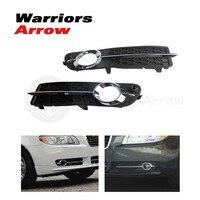 30790919 30790920 для Volvo S80 2007-2013 V70 2008-2010 пара передний LH RH бампер противотуманный светильник черный с хромированной формовочной отделкой