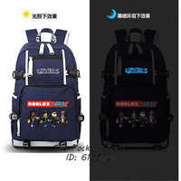 Hot Game Roblox Party Casual Backpack For Teenagers Canvas Shool Bags Printing Laptop Backpack Double Shoulder