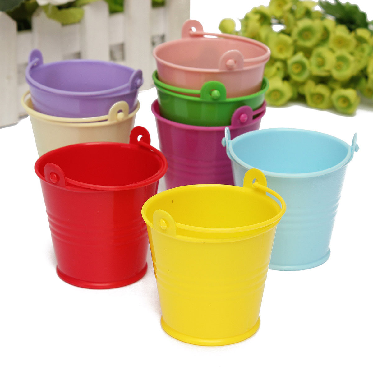 custom college papers promotion shop for promotional custom 10pcs pack wedding lovely bucket party 55 60mm mini favour keg box pail candy lolly top quality 8 colors