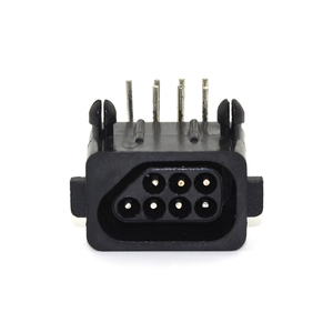 Image 2 - 10pcs Hight quality Replacement Parts 90 Degree 7 Pin Connector female for NES console Socket
