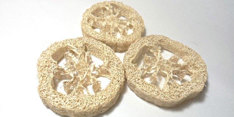 100pcs lotNatural Loofah Luffa Loofa Slices handmade DIY customize Loofah soap tools cleanner sponge scrubber facial