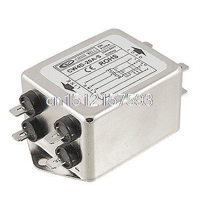 Пайки наконечники электролинии EMI фильтр AC 380V 20A