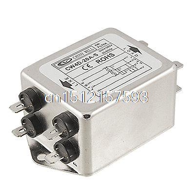 Solder Lug Terminals Power Line EMI Filter AC 380V 20A цены