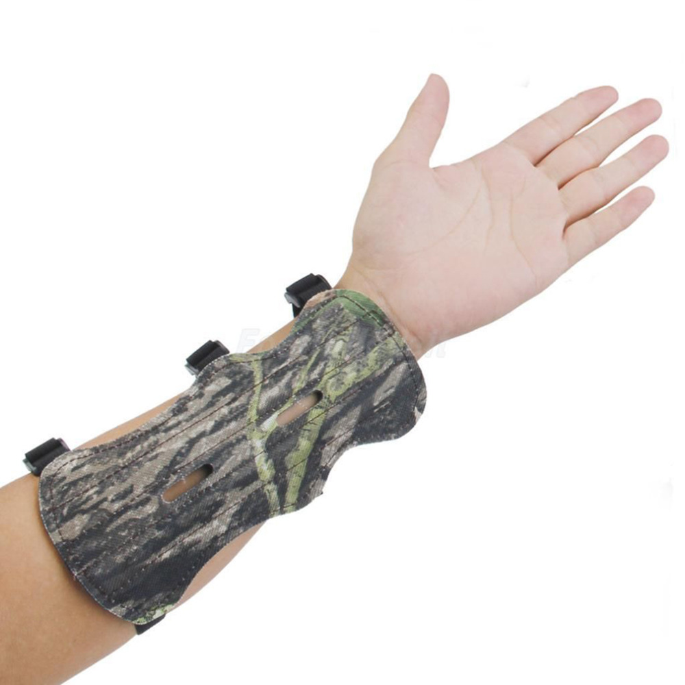 Camo Archery Bow Arm Guard Protective Forearm Safe Gear 3 Straps Armguard Bow Protection New HOT