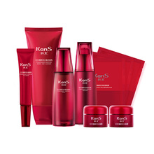 red pomegranate essence skincare set hyaluronic acid injections anti aging anti wrinkle mezoroller face with hyaluron 9pcs