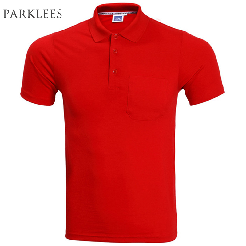 New Pocket   Polo   Shirt Men   Polo   Homme 2016 Summer Style Solid Color   Polo   Shirts Casual Brand Breathable Mens   Polos
