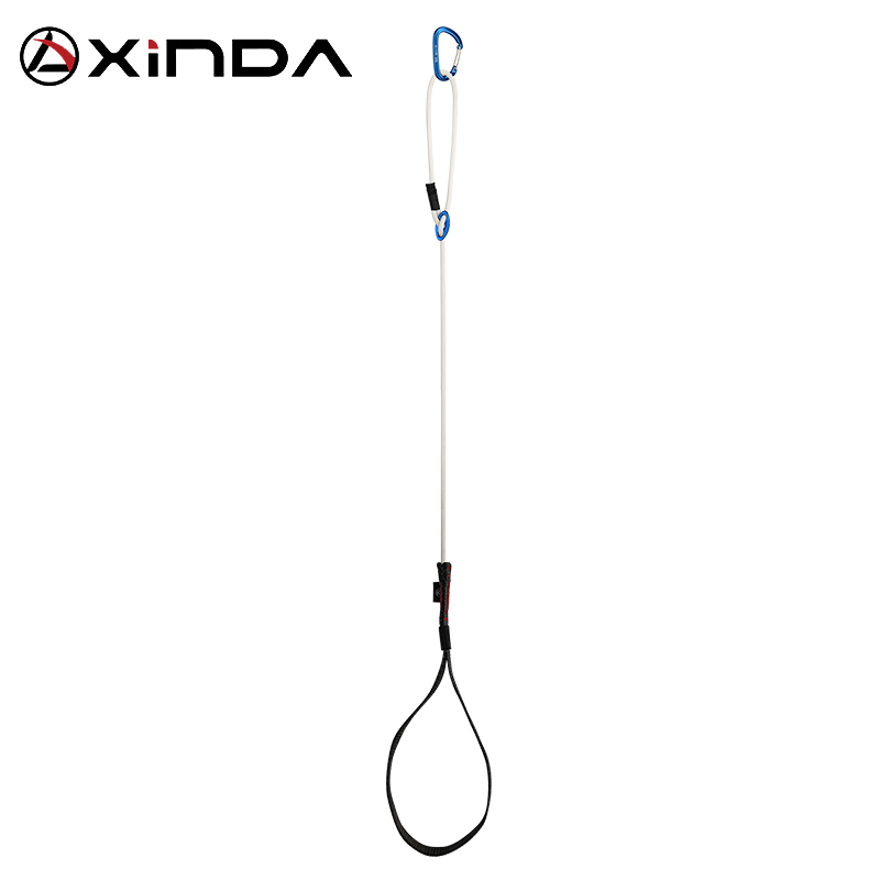 XINDA Professional Adjustable Webbing Foot Loop Climbing  Polyester Light Dinima Ascender Belt Device Band Rock Climb Equipment