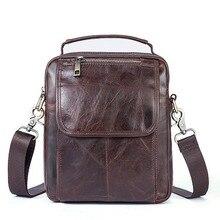 2017 New Vintage Men Shoulder Bag Satchel Top Genuine Cowhide Leather Messenger Bags Fashion Cross Body Bags soft skin Handbag