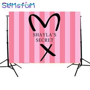 Image 4 - sxy936 7x5FT Pink Stripes Secret Girls Backdrops Custom Photo Backdrop Background Vinyl 220cm x 150cm