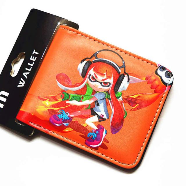 d451f6520cfb3e Cartoon brieftasche Splatoon kurze brieftasche jungen und mädchen Universelle  geldbörse
