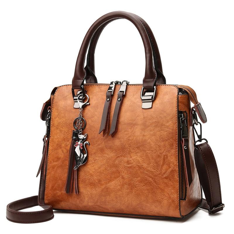 Women handbags Fashionable leather retro portable ladies Messenger shoulder bag casual multi-purpose messenger bags