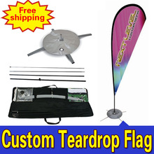 110cm*410cm Custom Flag Banners Double Side  Printing Teardrop Banners Flags with Cross Water Bag Any Design Color Logo