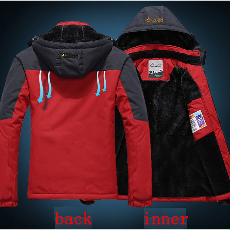 Men women jacket Winter Thermal coat jaqueta for men fahsion Velvet jackets male outerwear Chaqueta Waterproof Windproof couples