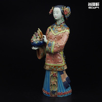 Shiwan doll master of fine ladies of ancient figures decorated life and Tianqi handmade ceramic crafts creative