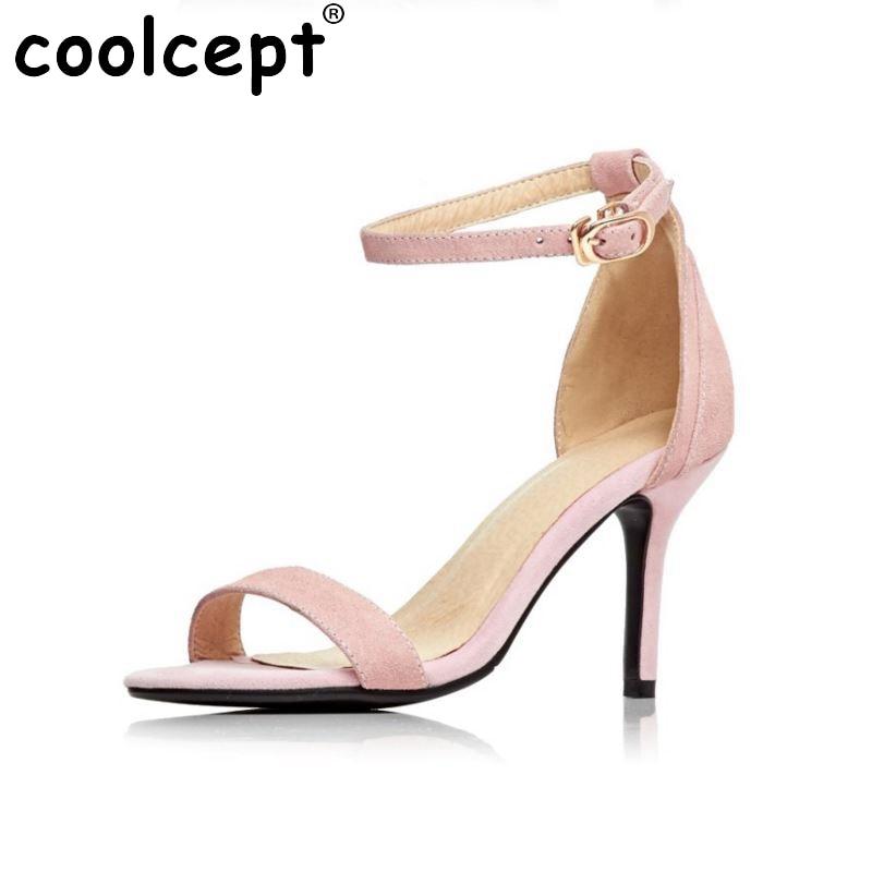 ФОТО ladies brand summer high heel sandals sexy fretwork party women hot sale new pattern footwear heels shoes size 32-44 P22935