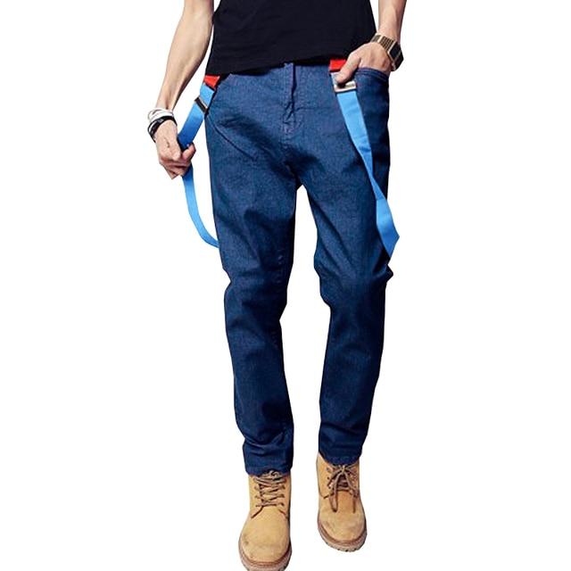 993beb1422b4 Huation Denim Overalls Men Hi-street Hip Hop Slim Jumpsuit Jeans Men Slim Mens  Jeans Casual Mens Denim Jumpsuit Male Trousers
