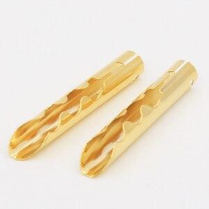 Image 1 - 12 sztuk VB432G złota miedzi Audio BFA typu Z 4mm wtyk bananowy kabel głośnikowy złącze