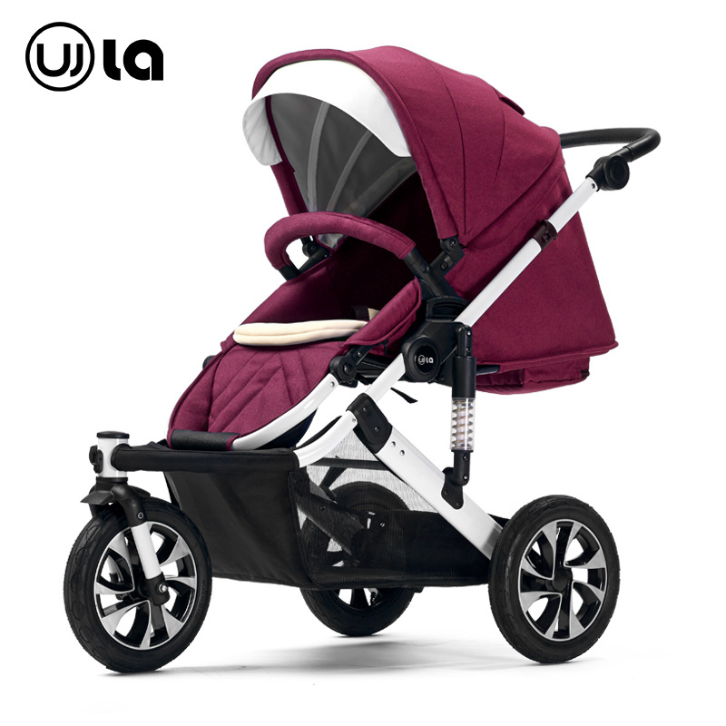High Landscape Baby Stroller Three Wheels Baby Cart Convertible Umbrella Car Newborn Baby Pram Travel System Joggy Buggy 0~36M