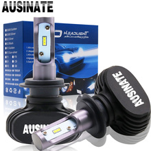 2pcs  H7 Led H4 H11 H1 H3 9005 9006  Auto fog Lamp Car Headlight 50W 8000LM  Automobile Bulb All In One CSP 6500K light цена и фото