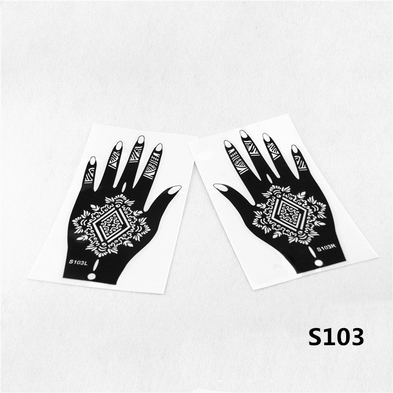 12pcs henna stencil mehndi arabic indian style temporary for Henna temporary tattoo stencils